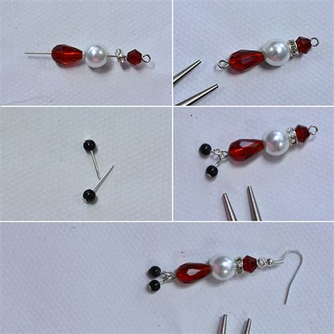how to bead earrings drop earrings with glass and