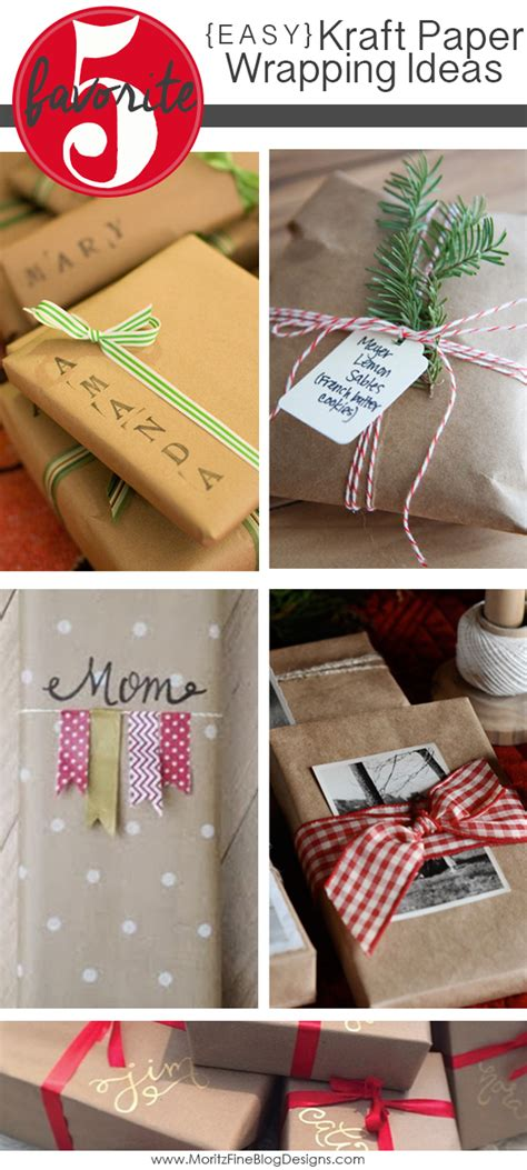 Craft Paper Wrapping - easy kraft paper wrapping ideas