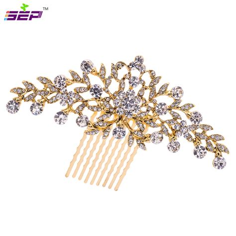 Vintage Wedding Hair Accessories Wholesale by Vintage Gold Plated Flower Hair Comb For Wedding Hair