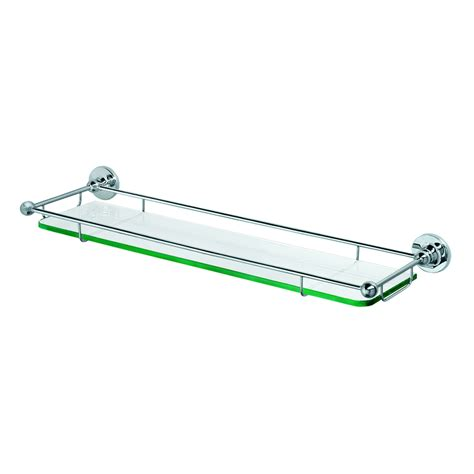 Chrome Bathroom Shelves Shop Gatco Chrome Metal Bathroom Shelf At Lowes