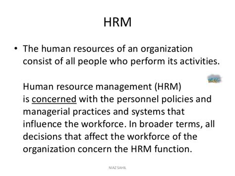 Mba Notes Of Human Resource Management by Human Resource Management Complete Note