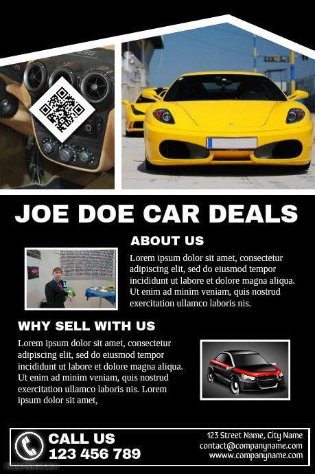 41 Best Images About Car Dealer Flyer Diy On Pinterest Cars Flyers And Poster Diy Brochure Template