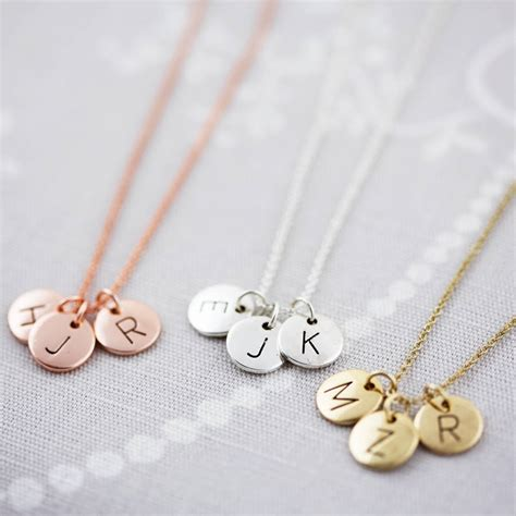 Letter Necklace Not On The High Letter Disc Necklace By J S Jewellery