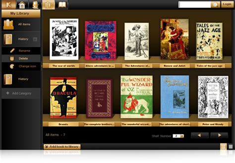 Readers Shelf by Koobits A Free Ebook Manager For Windows And Mac
