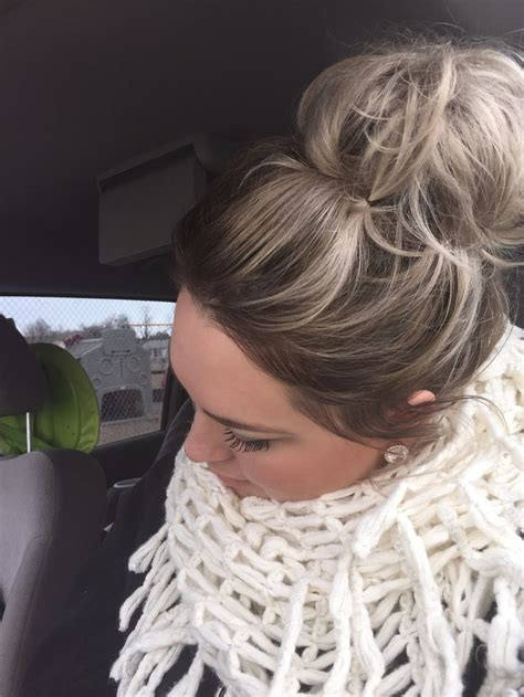 silver blonde root shadow hair ideas pinterest 17 best ideas about quick messy bun on pinterest easy