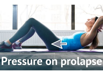 mcgill abdominal curl exercise alternative to avoid prolapse worsening