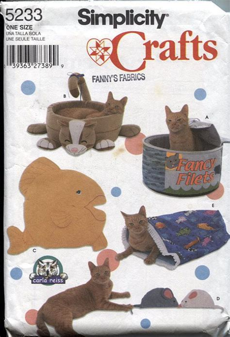 sewing pattern cat cave fish cat bed pattern woodworking projects plans
