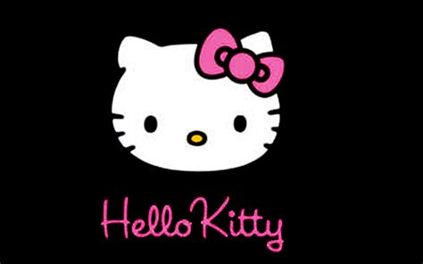 wallpaper hitam hello kitty hello kitty wallpapers for tablet wallpaper cave