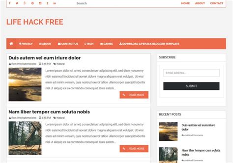 hacking templates for blogger life hack responsive blogger template 2014 free blogger themes