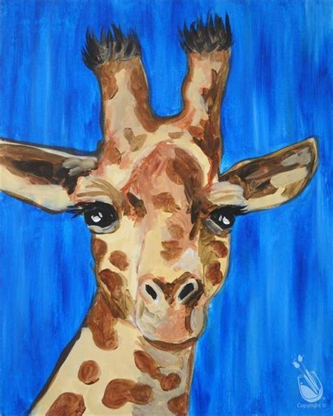 paint with a twist arlington world giraffe day painting with a purpose 6 21 2016