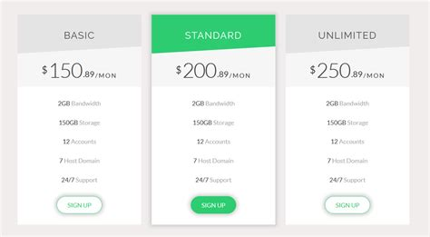 enfold theme pricing table generic pricing table by apex theme codecanyon