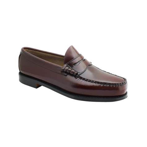 burgundy loafers for g h bass co larson loafers in brown for