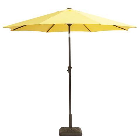 Crank And Tilt Patio Umbrella Hton Bay 9 Ft Steel Crank And Tilt Patio Umbrella In Buttercup Yjauc 171 Bc The Home Depot
