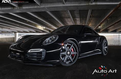 Porsche Design 9205 Black White Silver black porsche 997 turbo s adv6 track spec sl wheels