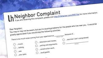 Complaint Letter To Knowhow Let Your Annoying Neighbors How You Feel With This