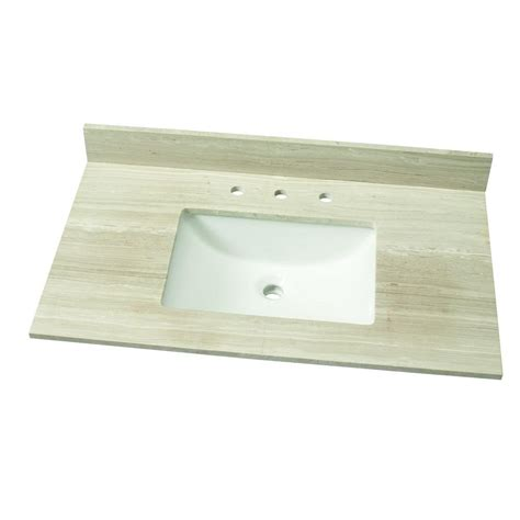 vanity with marble top home depot home decorators collection 37 in w marble single vanity