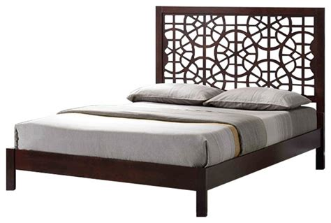 Tree Bed Frame Tree Branch Inspired Solid Wood Bed Frame Cappuccino King Contemporary Bed Frames