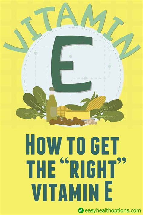 Vitamin The Right how to get the right vitamin e easy health options 174