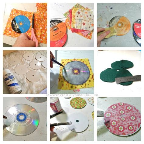 craft projects recycle craft cd coasters crafts by amanda