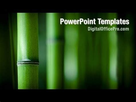 Zen Bamboo Powerpoint Template Backgrounds Digitalofficepro 05104w Youtube Presentation Zen Powerpoint Templates