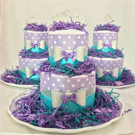Purple Baby Shower Centerpieces Ideas by Lavender And Turquoise Princess Cake Baby Shower