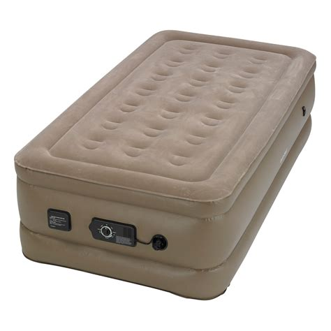 insta bed raised air mattress insta bed raised twin air bed with neverflat ac pump