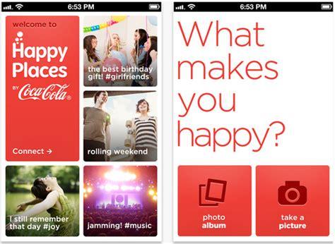 Happy App Coca Cola Launches Happy Places Photo App Design