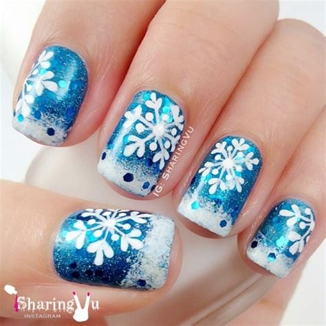 snowflake pattern nails 35 snowflake nail art ideas nenuno creative
