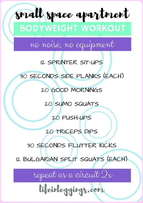 Apartment Workout Best 25 Apartment Workout Ideas On