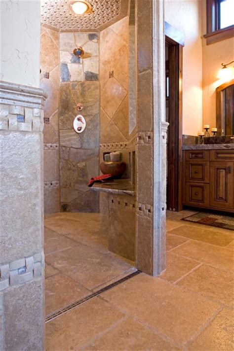 Zero Entry Shower by Mountain Rustic Zero Entry Shower Modern Other Metro