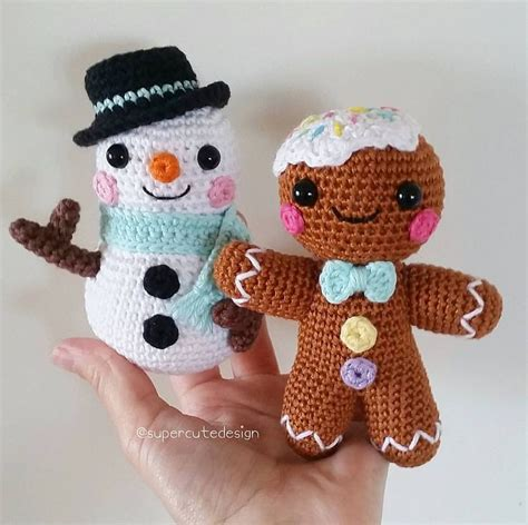crochet pattern gingerbread man super cute design love to crochet colourful things