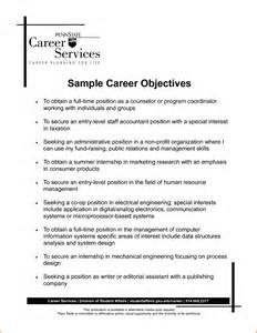 Resume Career Objective Examples 9 Career Objective Examples For Resume Denial Letter Sample