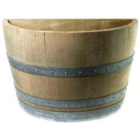 oak wood quarter wine barrel planter handcrafted from used