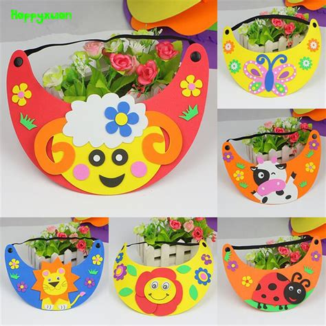 best arts and crafts kits for happyxuan 6pcs lot diy animal hat sun cap child