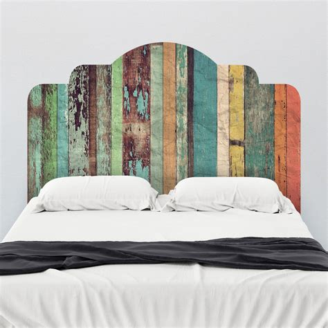wall decor headboard distressed panels adhesive headboard wall decals walls