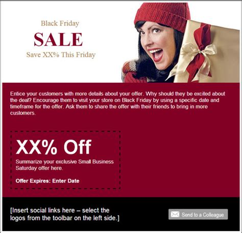 Make The Most Of The Holidays With These Email Templates Constant Contact Blogs Black Friday Email Template