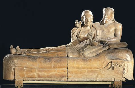 Sarcophagus Of Reclining by 700 480 Bce Early Etruscan Ancient To