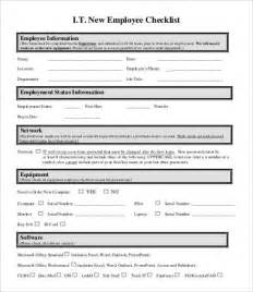 new employee checklist template new employee checklist template 9 free pdf documents