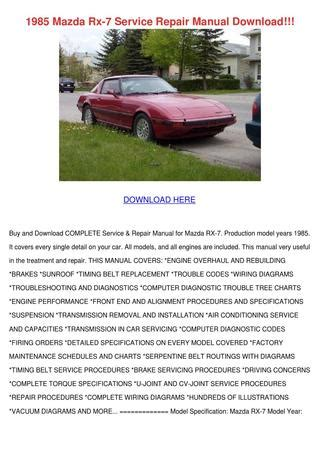 how to download repair manuals 1983 mazda rx 7 electronic toll collection 1985 mazda rx 7 service repair manual downloa by meaganjewett issuu