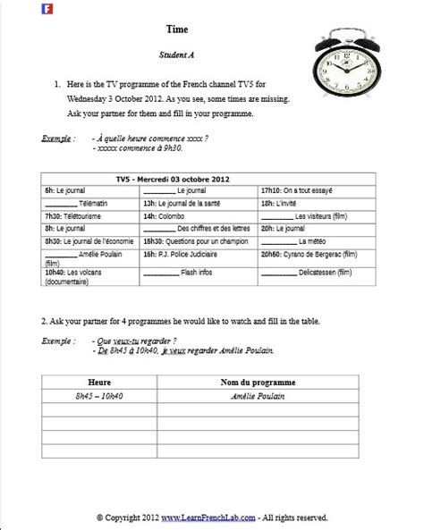 printable worksheets in french 30 best french worksheets images on pinterest french