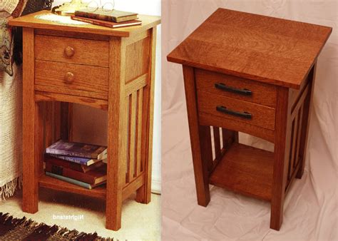 Mission Nightstand Plans wood magazine arts and crafts bedside