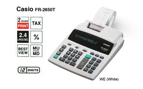 calculator listrik jual casio fr 2650t printing kalkulator calculator struk