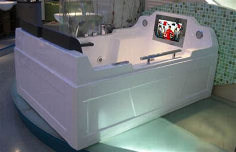 bathtub with tv 27 unique bathtubs you ll never want to leave