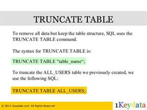 Truncate Table by Sql Tutorial How To Create Drop And Truncate Table