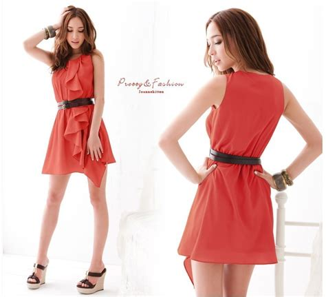 Dress Merah Import dress import merah modis model terbaru jual murah