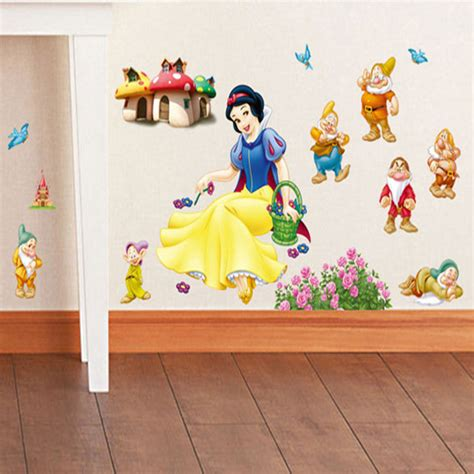 snow white wall stickers snow white and seven dwarfs wall sticker home decor wall decal diy for room decal