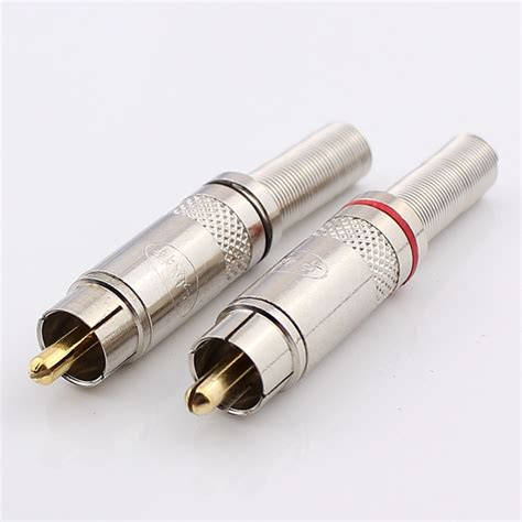 Connector Rca Gold buy gold plated wiring rca weld connector av