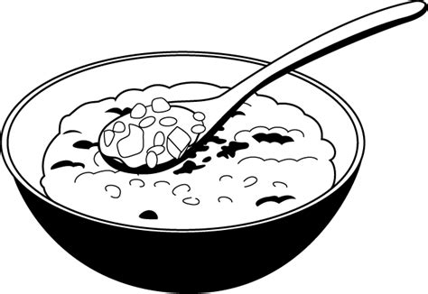 bowl of rice black white line art tatoo tattoo clip art box of rice clipart clip art library