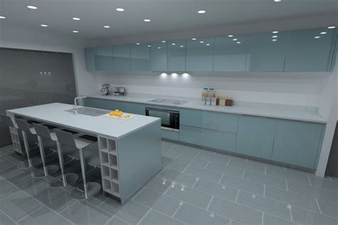 Cabinets For Kitchen by Ocean Blue Lacquer Kitchens From Lwk Kitchens