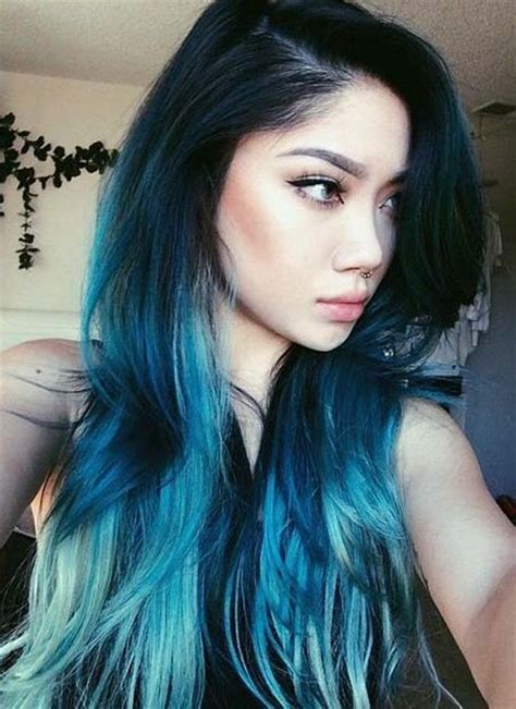 pics com of com light hair in front and shark in back 29 blue hair color ideas for daring women page 2 of 3